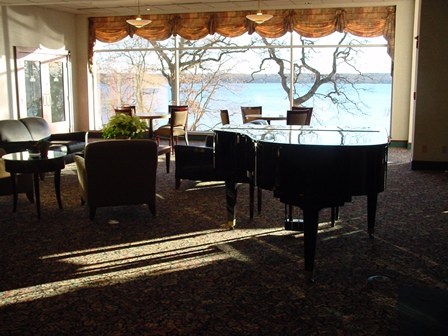 Lake view from the Heidel House main lobby