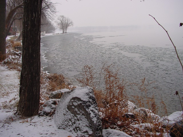 Green Lake winter shoreline