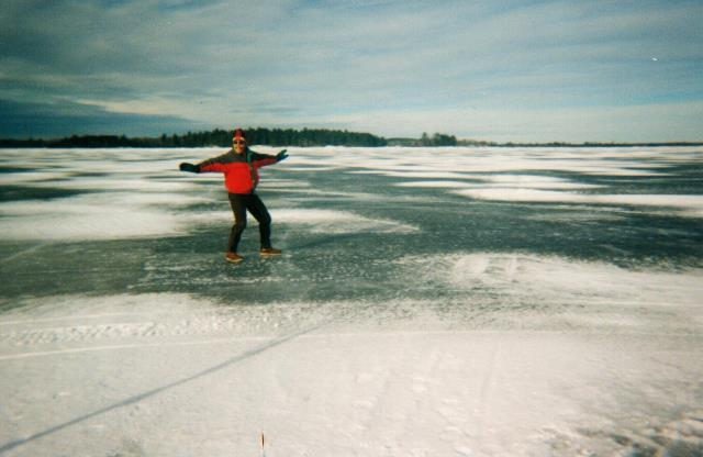 R. Karl out on the ice at Kab