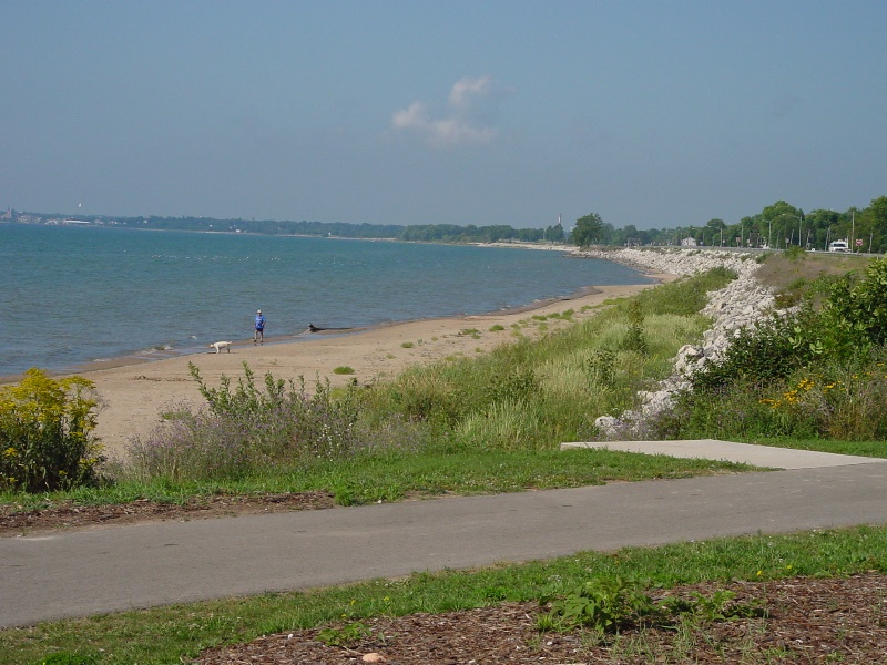 Mariner's Trail along Lake Michigan