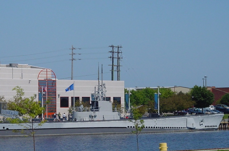 S.S. Cobia docked outside the museum