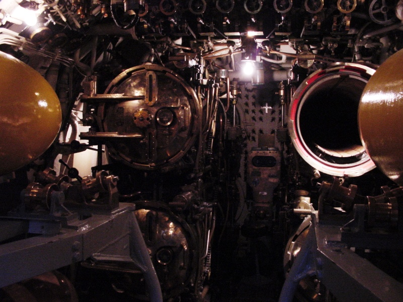 Torpedo tubes in the S.S. Cobia