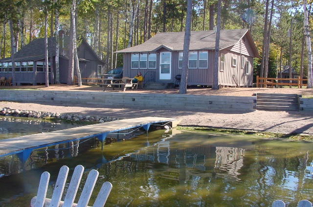 Our cabin was right on Little St. Germain Lake!